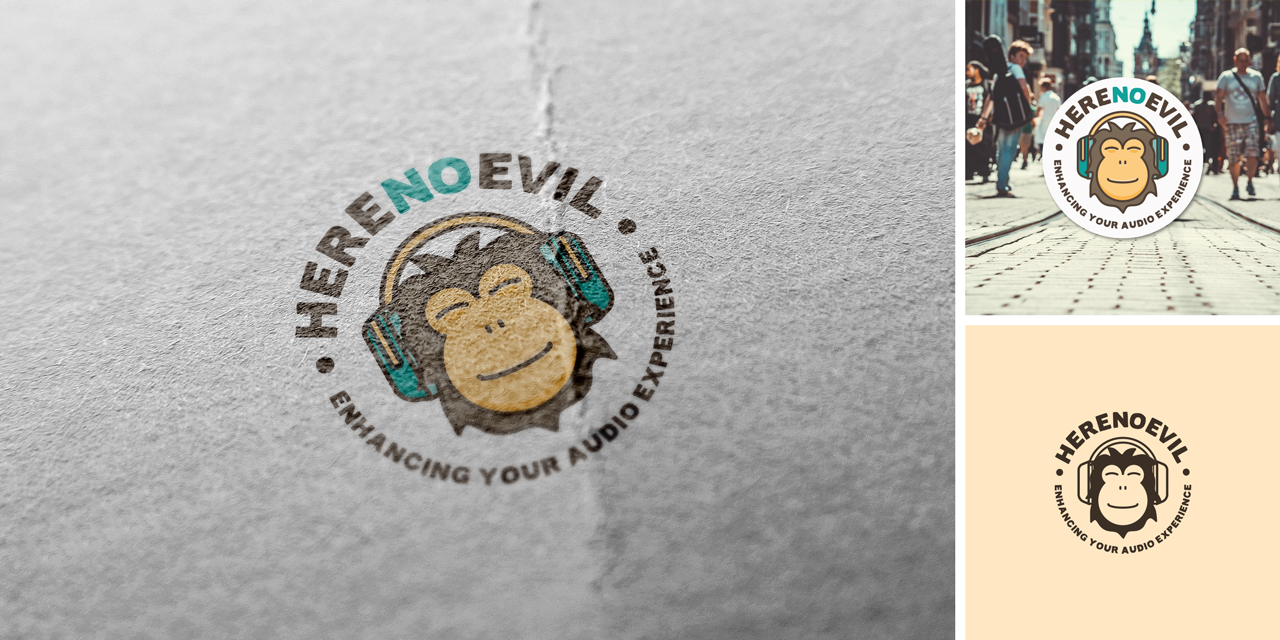 logo design Here No Evil
